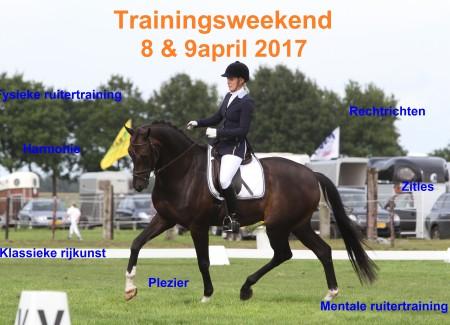 trainingsweekend 8 + 9 april
